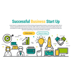 successful business start up vector image vector image