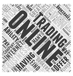 About Online Trading Word Cloud Concept vector image