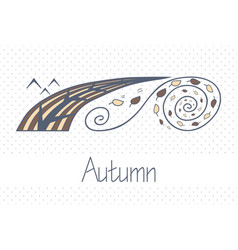 abstract picture with season autumn vector image vector image
