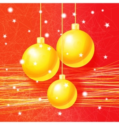 Bright Christmas greeting card vector image vector image