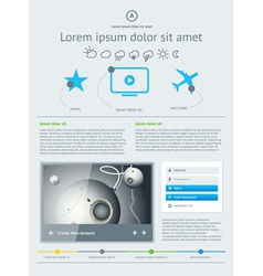 Elements of User Interface for Web vector image