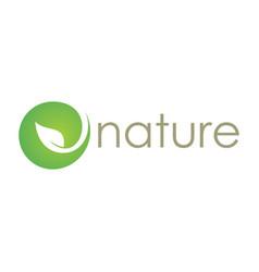 green nature abtsract logo vector image vector image