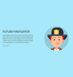little future firefighter in uniform vector image vector image