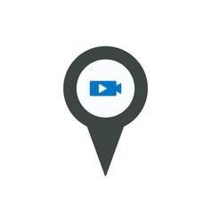 pin movie icon vector image
