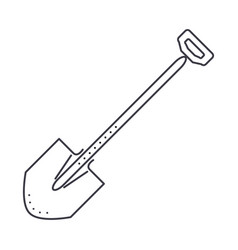 shovel line icon sign on vector image vector image