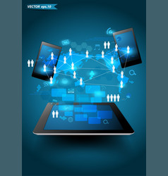 technology business vector image