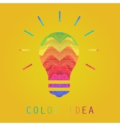 Creative edges color painting idea lamp vector image vector image