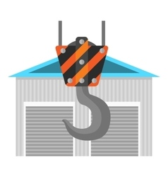 New warehouse flat icon vector image