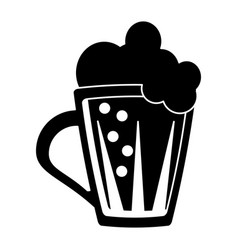 St patricks day glass beer cold pictogram vector