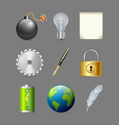 Various icons vector image