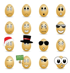 egg set cartoon vector image