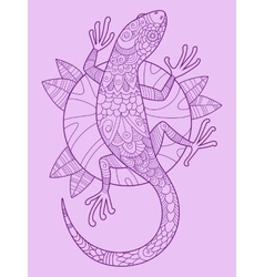 Lizard color drawing vector image
