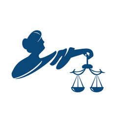 themis goddess of justice logo vector image