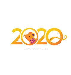 2020 new year banner colorful style vector image