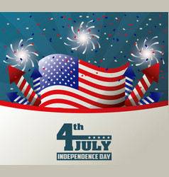 4th july independence day celebration patriotic vector image