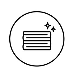 A stack clean laundry icon editable thin line vector