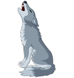 A wolf Howling on Top of its Lungs vector