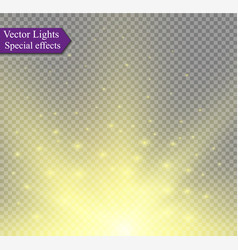 abstract golden sparkler effect with white sparks vector image