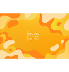 Abstract liquid dynamic background banner vector