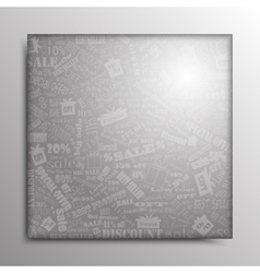abstract square frame Sale vector image