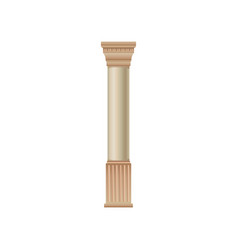 antique marble column on a vector image