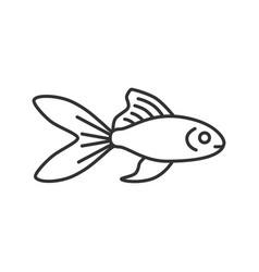 Aquarium goldfish linear icon vector