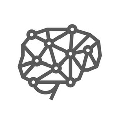 artificial intelligence line icon vector image