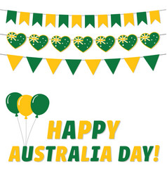 australia day greeting card vector image