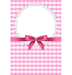 Baby pink napkin background vector