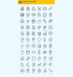 basic icons bundle vector image