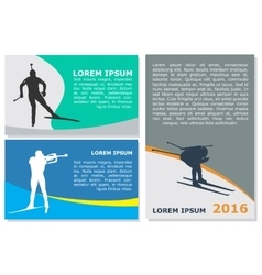 biathlon flyer template vector image