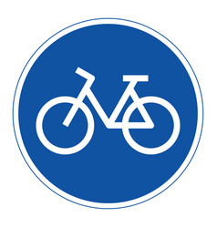 bicycle lane sign vector image