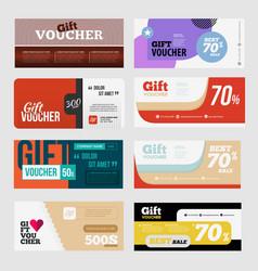 big voucher discount template set vector image