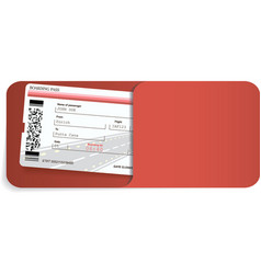 boarding pass inside of envelope vector image
