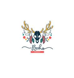 boho market handmade art boutique hand drawn vector image