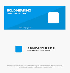 Box checkbox unchecked solid icon website banner vector