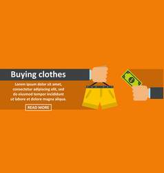 buying clothes banner horizontal concept vector image