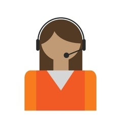 Call center operators avatar vector
