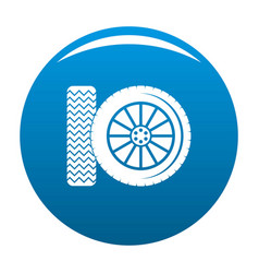 car tire icon blue vector image