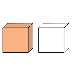 cardboard box icons vector image