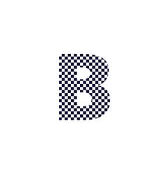 Checker pattern logo letter b vector