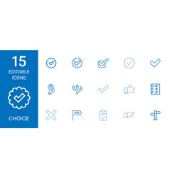 choice icons vector image