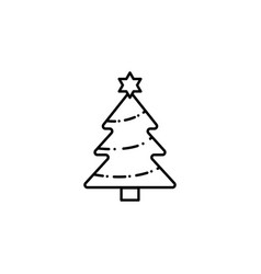 christmas tree outline icon can be used for web vector image