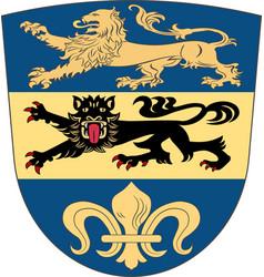 Coat of arms of dillingen in swabia bavaria vector