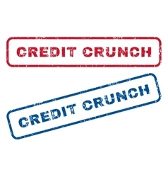 Credit Crunch Rubber Stamps vector image