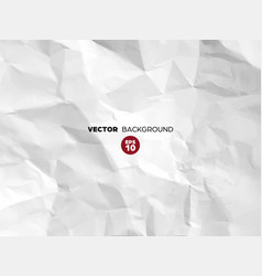 crumpled white paper texture pattern rough grunge vector image