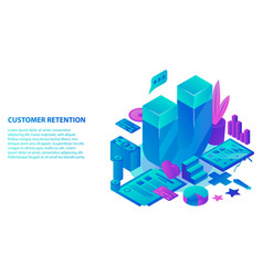 customer retention concept background isometric vector image