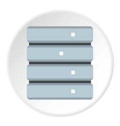 Data storage icon flat style vector