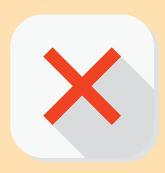 delete close exit icon symbol for web application vector image