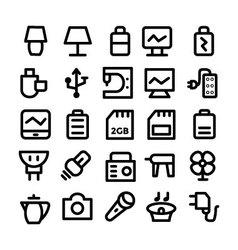 Electronics Icons 9 vector image